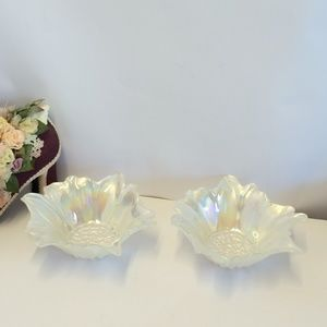 Gorgeous Vintage Mother of Pearl Look Bowls